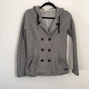 Roxy double breasted hooded sweatshirt